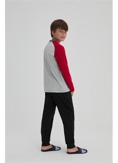 Dagi Erkek Çocuk Interlok O Yaka Uzun Kol Pijama Takimi Gri